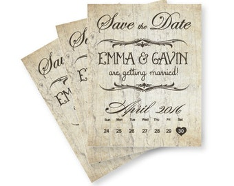 MINI Save The Date Magnets or Cards