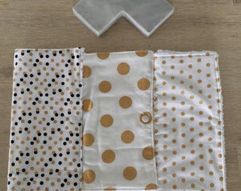 Extra large burp cloths / newborn baby burp cloths - set of three (3)