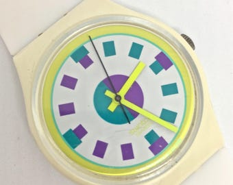 """1989 """"Alpine"""" Vintage Swatch Watch"""