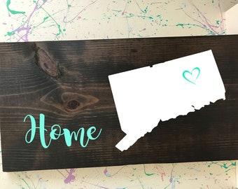 Connecticut Home Plaque
