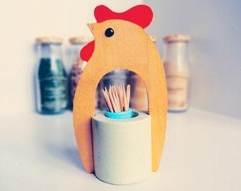 Chicken Hen Wood kitchen decoration - Vintage