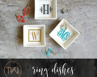 Ring Dish - Monogram Jewelry Dish - Bridesmaid Ring Dish - Ring Dish Monogram Dish - Bridesmaid Jewelry Dish