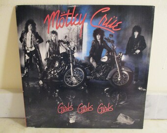 Vintage 1987 Vinyl LP Record Motley Crue Girls Girls Girls MINT Condition 16252