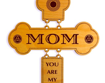 Mothers Day Gift Ideas - Gifts for Mom Personalized - Mother's Day Gift from Daughter - Son - Wall Cross