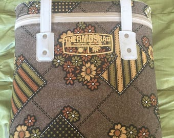 Vintage Thermos Insulated Cool Bag - circa 1970s - Picnic, Beach, Camping