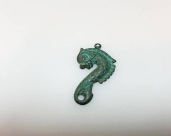 Verdigris Brass Sea Serpent Charm