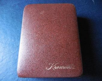 Vintage Brown Krementz Presentation Box Hinged 1960s to 1970s Retro