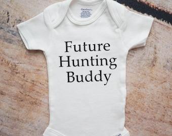 Future Hunting Buddy ONESIES®, Coming Home Outfit, Newborn Boy Onesie, Newborn Girl Bodysuit, Baby Shower Gift, Hunting Nursery Decor