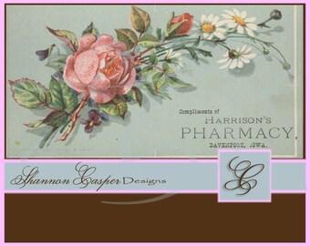 Large Vintage Ephemera Digital Image #76 ~ Instant Download