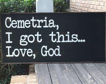 God sign, God Loves you sign, Large sign, Custom sign,24x48