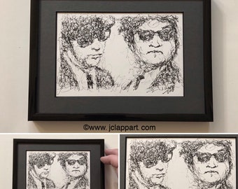 Original ink drawing done by me Blues Brothers