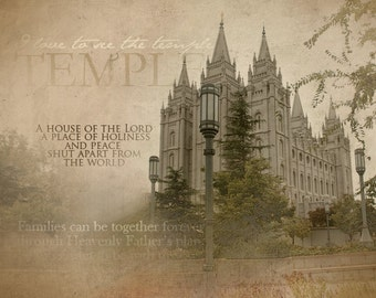 Salt Lake LDS Temple Print