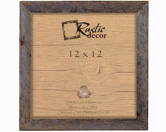 "12x12 -1.5"" wide Rustic Barn Wood Standard Wall Frame"