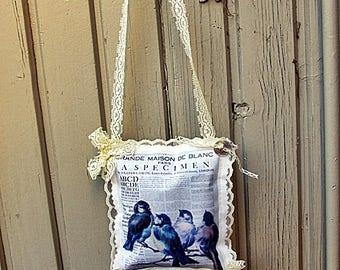 Lavender hanging pillow