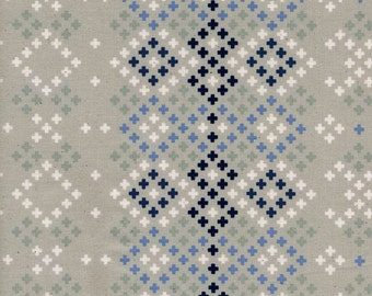 Plus Sign fabric -  Blue/White/Gray/Navy; Quilting Cotton; [[by the half yard]]