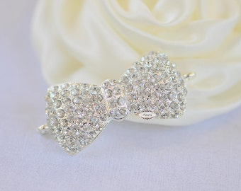 Rhinestone Flatback Crystal Bow Connector Embellishment Flatback DIY Jewelry Hair Bridal Wedding Gift Craft Supplies