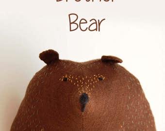 Brown bear plush, Big Brother Bear, stuffed toy, soft toy kids gift, Woodland Plush, stuffed animal, stuffed bear, softie birthday gift