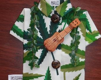 Marijuana mini shirt ornament