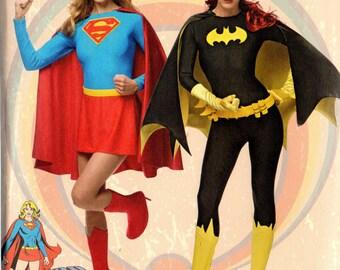 Dc Comics SUPER GIRL v BATGIRL Simplicity Pattern 1036 Misses 14 16 18 20 22