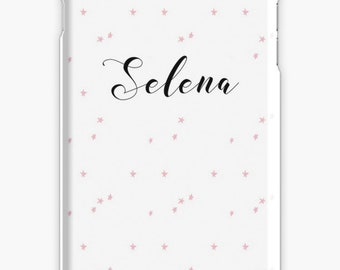 Personalized iPhone 7 Case iPhone 7 plus case iPhone 6s case iPhone X Case Samsung s8 Case Samsung Galaxy Custom Phone Case Pink Stars