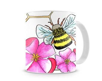 Set of 4 - Honey Bee Mugs