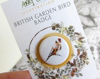 British Garden Bird Badge - Goldfinch