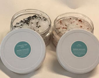Natural Spa Salts by LeaBee Naturals • natural bath salts, bath soak