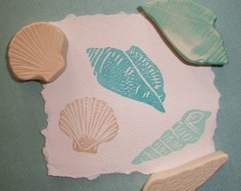 Sea Shell Rubber Stamp Set