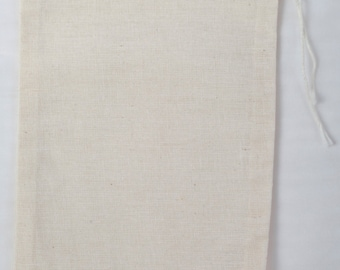 50 count 4x6 Cotton Muslin Drawstring Bags Bath Soap Herbs