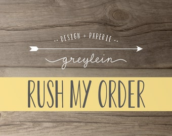 Rush my order • 24 hour rush is available if this listing is available