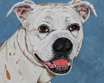 Custom Dog Portraits in watercolor or acrylic