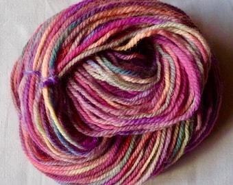 HAND-DYED YARN - 100% Wool - Aran Weight - Rainbow Dyed