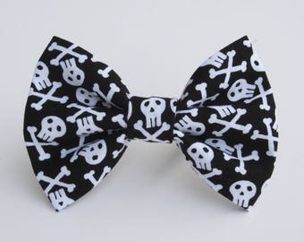 Skull and Crossbones Bow Tie- All Sizes