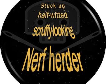 Star Wars - Inspired NERF HERDER button