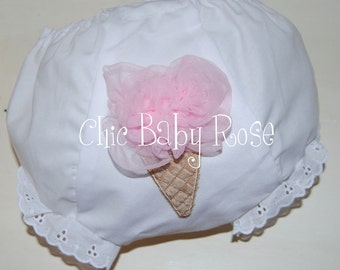 Fluffy Ice Cream Bloomers by Chic Baby Rose