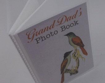 Grandparent Photo Album personalized photo album Boy Girl Grandpas brag book Grandma photo book 4x6 or 5x7 picture bird 275