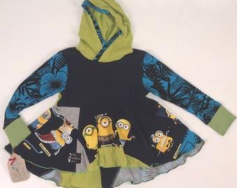 Size 7 - Upcycled Hi-Lo Tunic Hoodie