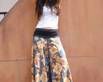 Wide Leg Pants / Skirt Pants / Palazzo Pants / Bell Bottom Pants / Flared Pants / Beach Pants / Boho Pants / Colorful Indian Fabric