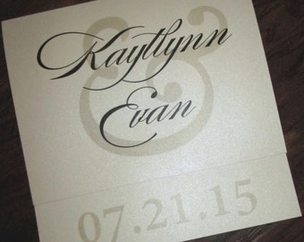 Square Shimmer Wedding Invitation