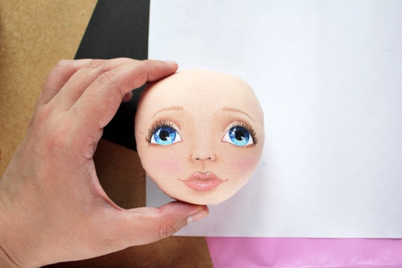 How to draw face, Tutorial, cloth doll, pdf, step by step