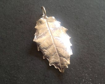 Pure Silver Real Leaf Pendant