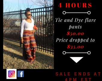 Tie and Dye flare pants