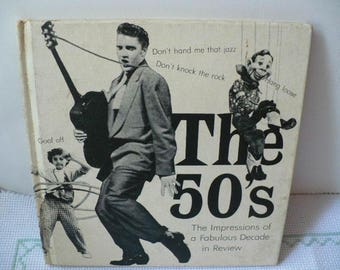 Photo Booth Prop, Graduation Gift, Teacher Gift, The 50's Book About Top Music, 1950s, Elvis Presley, Bridal Shower, 1950s Party, Photo Prop