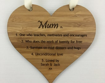 Definition of a Mum, Mother's day plaque, Mother's day gift, Mothers day present, Mum present, Personalised mum gift, mum gift, wooden gift