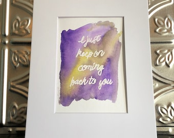 Louis Tomlinson Lyric Art - Back To You