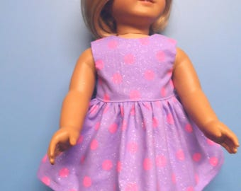"""Fits 18"""" dolls - Lilac and Pink Spring dress"""