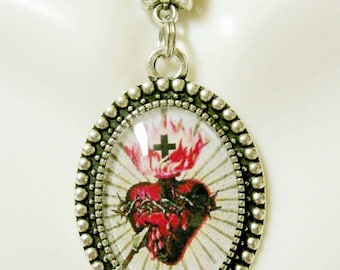 Sacred heart of Christ pendant and chain - AP05-225