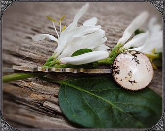 Cabochon flower hair pin 1