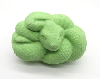 Snake Bath Bomb - bath fizzy, bath bombs, bath fizzies, party favor, snake, slither, Halloween, reptile, boa, scales, medusa, viper, cobra