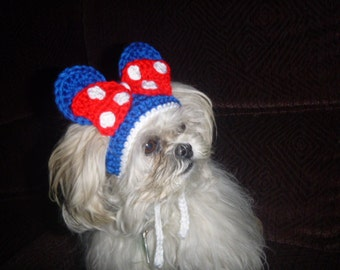 PATRIOTIC 4th of July MOUSE Ears Pet Hat - 2 to 20 lb dog or cat
